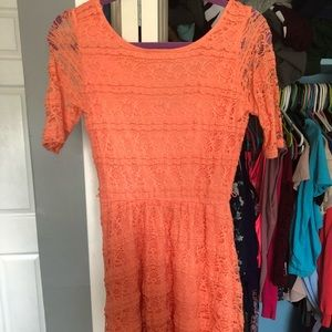 Color: peach. Lace dress